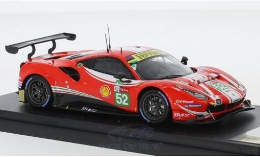 Ferrari 488 1/43 Look Smart GTE Evo No.52 AF Corse 24h Le Mans 2018 T.Vilander/A.Giovinazzi/L.F.Derani miniature