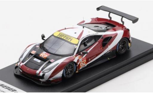 Ferrari 488 1/43 Look Smart GTE EVO No.62 Red River Sport 24h Le Mans 2020 B.Grimes/C.Hollings/J.Mowlem