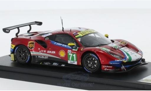 Ferrari 488 1/43 Look Smart GTE Evo No.71 AF Corse 24h Le Mans 2018 D.Rigon/S.Bird/M.Molina diecast model cars