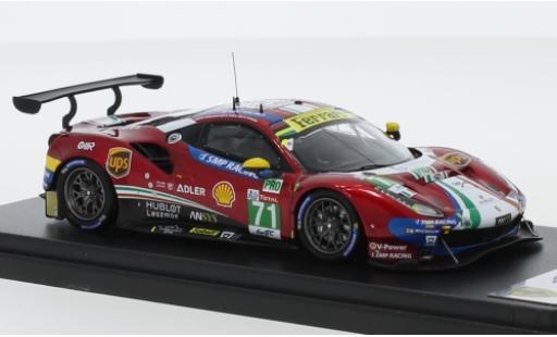 Ferrari 488 1/43 Look Smart GTE Evo No.71 AF Corse - SMP Racing 24h Le Mans 2019 D.Rigon/S.Bird/M.Molina miniature