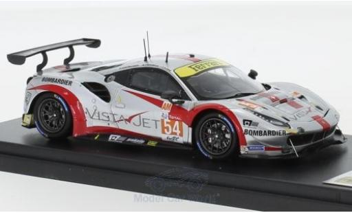 Ferrari 488 1/43 Look Smart GTE No.54 Spirit of Race 24h Le Mans 2018 T.Flohr/F.Castellacci/G.Fisica diecast model cars