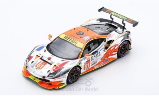 Ferrari 488 1/18 Look Smart GTE No.61 Clearwater Racing 24h Le Mans 2018 M.Griffin/W.S.Mok/K.Sawa diecast model cars