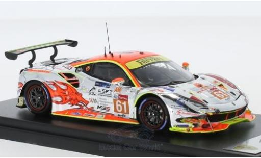 Ferrari 488 1/43 Look Smart GTE No.61 Clearwater Racing 24h Le Mans 2018 W.S.Mok/M.Griffin/K.Sawa modellino in miniatura