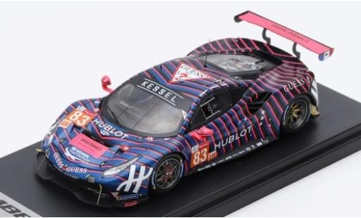 Ferrari 488 1/43 Look Smart GTE No.83 Kessel Racing 24h Le Mans 2019 R.Frey/M.Gatting/M.Gostner diecast model cars