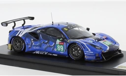 Ferrari 488 1/43 Look Smart GTE No.89 Risi Competizione GTC 24h Le Mans 2019 P.Derani/O.Jarvis/J.Gounon modellautos
