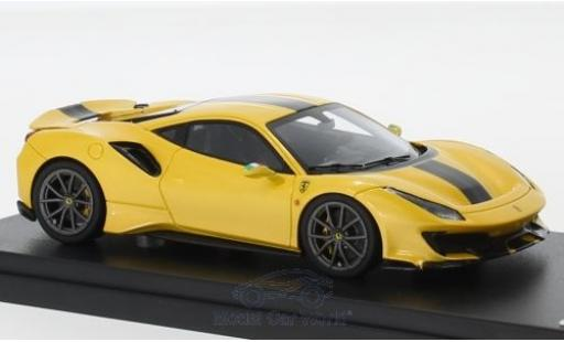 Ferrari 488 1/43 Look Smart Pista metallic yellow/black 2018 diecast
