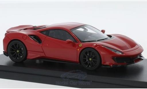 Ferrari 488 1/43 Look Smart Pista red diecast