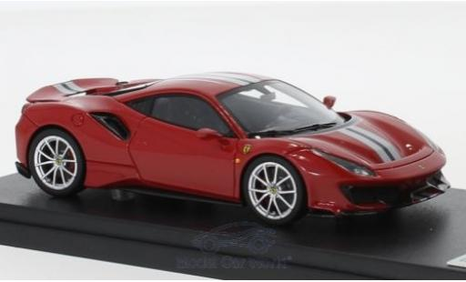 Ferrari 488 1/43 Look Smart Pista rouge/grise 2018 miniature