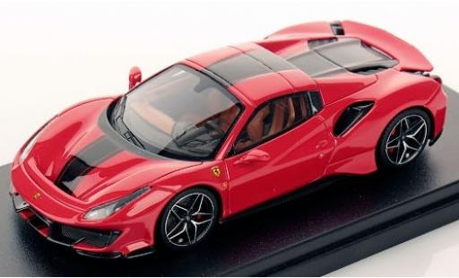 Ferrari 488 1/43 Look Smart Pista Spider Hardtop rouge/noire 2018 miniature