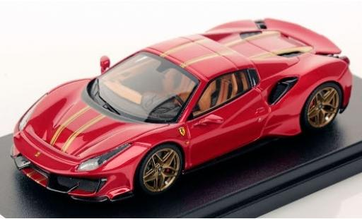 Ferrari 488 1/43 Look Smart Pista Spider Hardtop metallise rouge/gold 2018 miniature