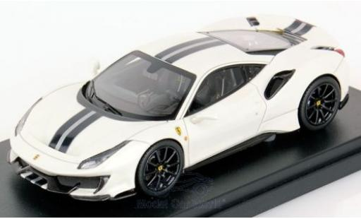 Ferrari 488 1/43 Look Smart Pista weiss modellautos