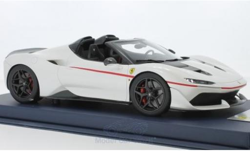 Ferrari J50 1/18 Look Smart metallise blanche miniature