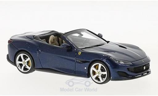 Ferrari Portofino 1/43 Look Smart metallise bleue miniature