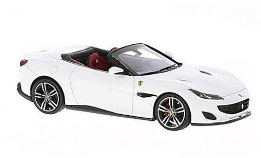 Ferrari Portofino 1/43 Look Smart blanche/noire miniature