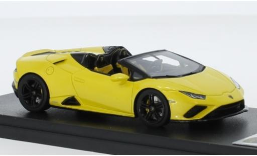 Lamborghini Huracan 1/43 Look Smart Evo RWD Spyder metallise yellow 2019 diecast model cars