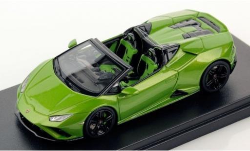 Lamborghini Huracan 1/43 Look Smart Evo RWD Spyder metallise green 2019 diecast model cars