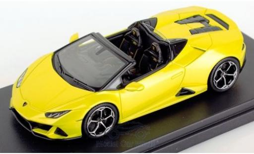 Lamborghini Huracan 1/43 Look Smart Evo Spyder metallic yellow 2019 diecast