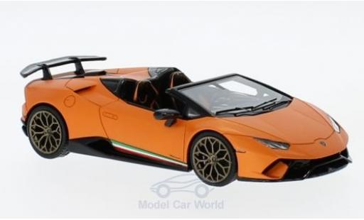 Lamborghini Huracan 1/43 Look Smart Performante Spyder matt-orange diecast model cars