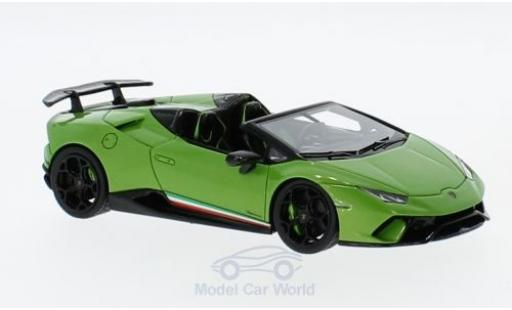 Lamborghini Huracan 1/43 Look Smart Performante Spyder metallise verte miniature