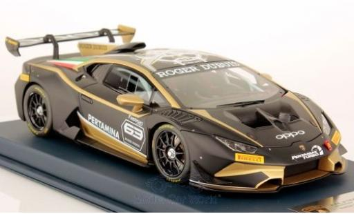 Lamborghini Huracan 1/18 Look Smart Super Trofeo Evo matt-noire No.63 2018 miniature