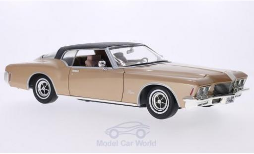 Buick Riviera 1971 1/18 Lucky Die Cast GS gold/matt-noire 1971 miniature