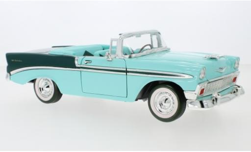 Chevrolet Bel Air 1/18 Lucky Die Cast Convertible turquoise/green 1956 diecast model cars