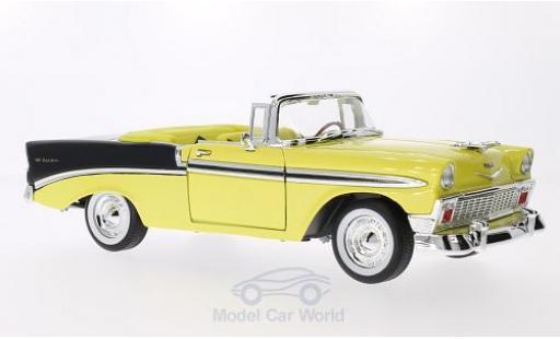 Chevrolet Bel Air 1/18 Lucky Die Cast metallic-jaune/noire 1956 miniature