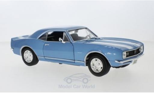 Chevrolet Camaro 1/18 Lucky Die Cast Z28 metallise bleue/blanche 1967 miniature