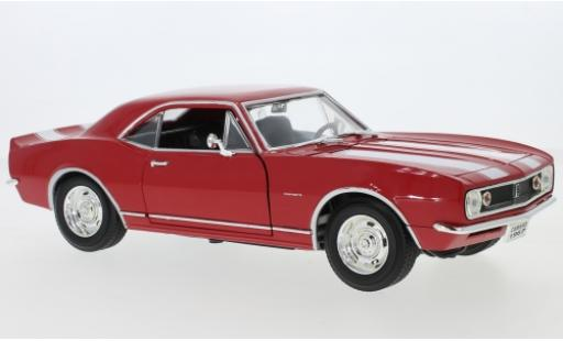 Chevrolet Camaro 1/18 Lucky Die Cast Z28 rosso/bianco 1967 modellino in miniatura