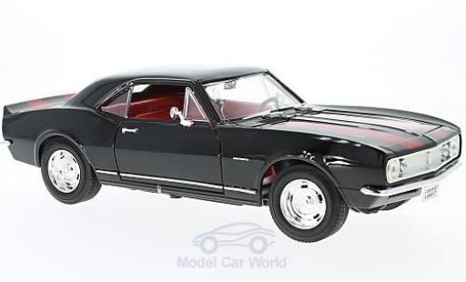 Chevrolet Camaro Z28 1/18 Lucky Die Cast noire/rouge 1967 miniature