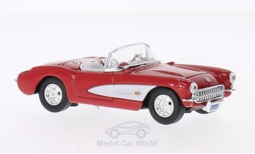 Chevrolet Corvette 1/43 Lucky Die Cast red/white 1957 ohne Vitrine diecast model cars