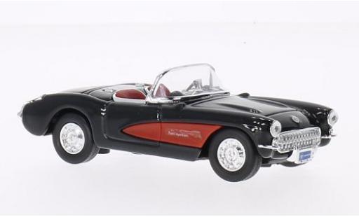 Chevrolet Corvette 1/43 Lucky Die Cast black/red 1957 sans Vitrine diecast model cars