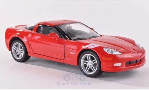 Chevrolet Corvette C6 1/24 Lucky Die Cast Z06  red 2007 diecast model cars