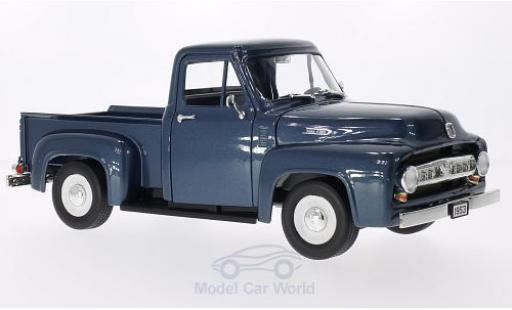 Ford F-1 1/18 Lucky Die Cast 00 Pick Up metallic-bleue 1953 miniature