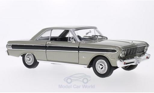 Ford Falcon 1/18 Lucky Die Cast metallise grise/noire 1964 miniature
