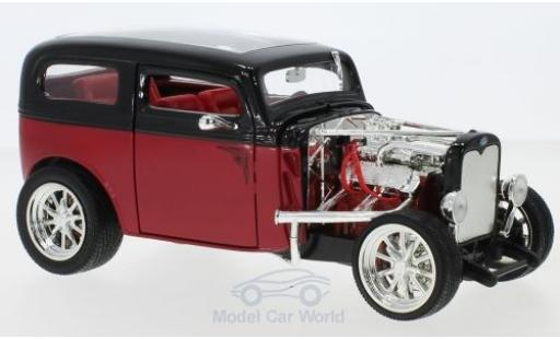 Ford Model A 1/18 Lucky Die Cast Custom rouge/noire 1931 ohne Vitrine miniature