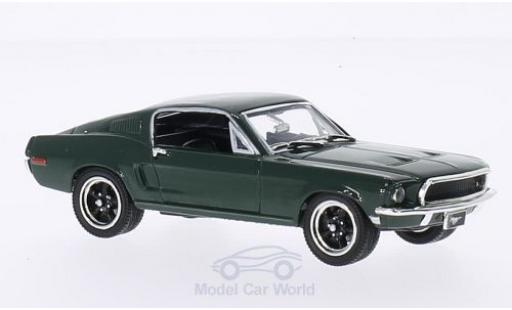 Ford Mustang GT 1/43 Lucky Die Cast 2+2 Fastback verde 1968 modellino in miniatura