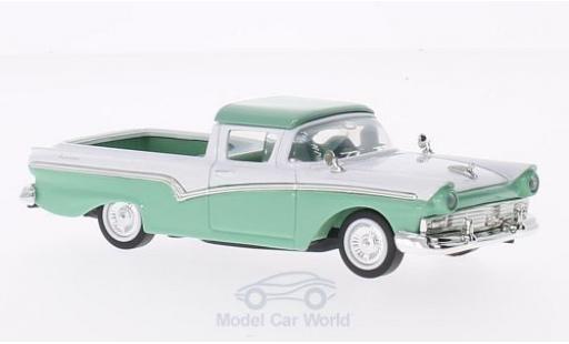 Ford Ranchero 1/43 Lucky Die Cast verte/blanche 1957 ohne Vitrine miniature