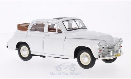 Gaz M20 1/18 Lucky Die Cast GAZ Pobeda Cabrio-Limousine blanche miniature