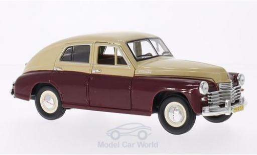 Gaz M20 1/18 Lucky Die Cast GAZ Pobeda rouge/beige miniature