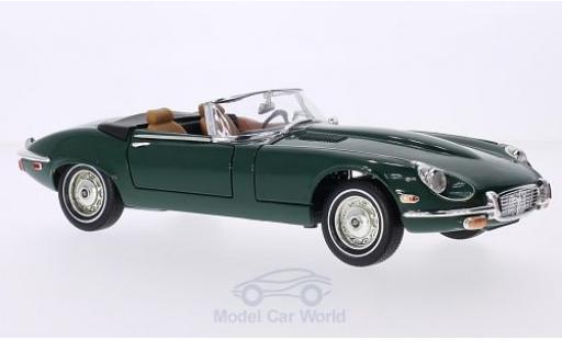 Jaguar E-Type 1/18 Lucky Die Cast Roadster verde 1971 Verdeck geöffnet coche miniatura