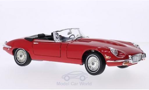 Jaguar E-Type 1/18 Lucky Die Cast Roadster rouge 1971 Verdeck geöffnet miniature