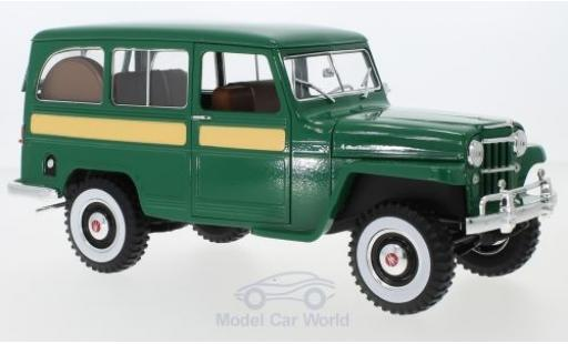 Jeep Willys 1/18 Lucky Die Cast Station Wagon verte 1955 miniature