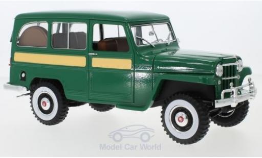 Jeep Willys 1/18 Lucky Die Cast Station Wagon grün 1955 diecast