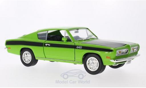 Plymouth Barracuda 1969 1/18 Lucky Die Cast hellgrün/matt-noire 1969 miniature