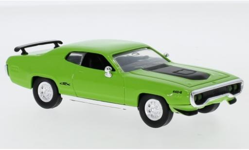 Plymouth GTX 1/43 Lucky Die Cast green/matt-black 1971 diecast model cars
