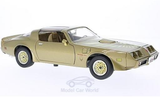 Pontiac Firebird 1/18 Lucky Die Cast Trans Am gold miniature
