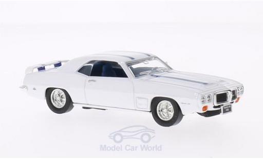 Pontiac Firebird 1/43 Lucky Die Cast Trans Am blanche 1969 mit bleueen Streifen ohne Vitrine miniature