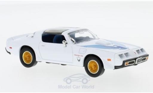 Pontiac Firebird 1979 1/43 Lucky Die Cast Trans Am blanche/Dekor miniature