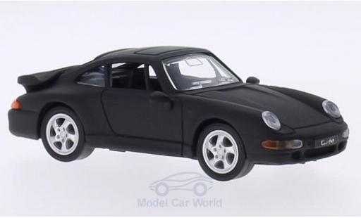Porsche 993 Turbo 1/43 Lucky Die Cast 911  matt-black 1996 ohne Vitrine diecast model cars